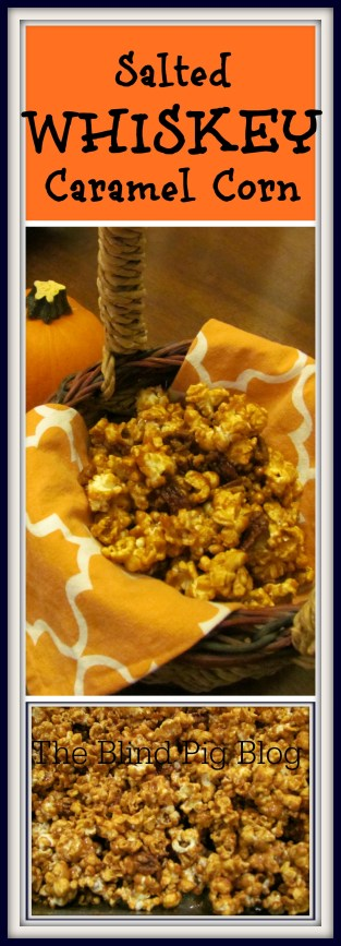 salted whiskey caramel corn