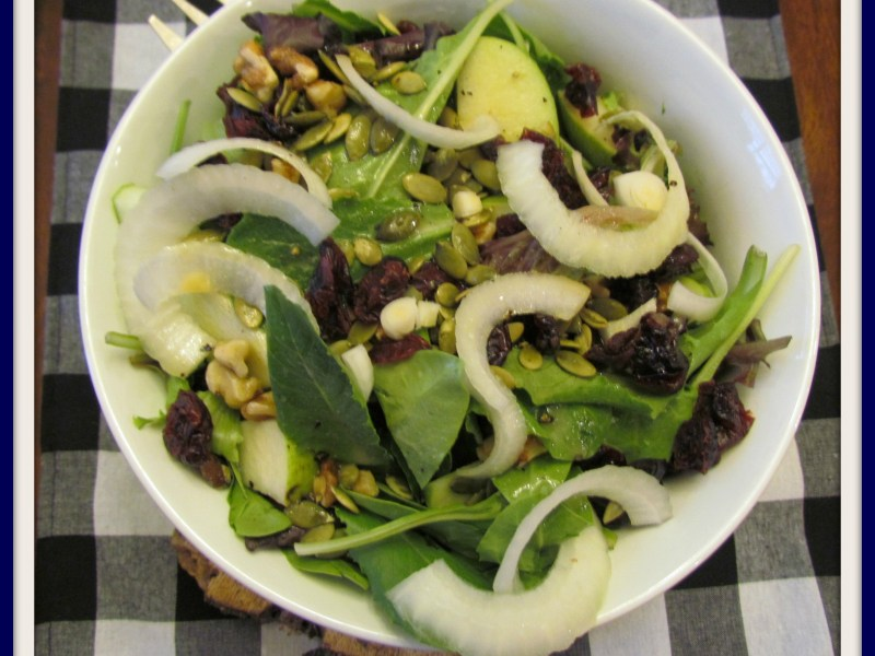Autumn Salad with Hard Cider Dressing