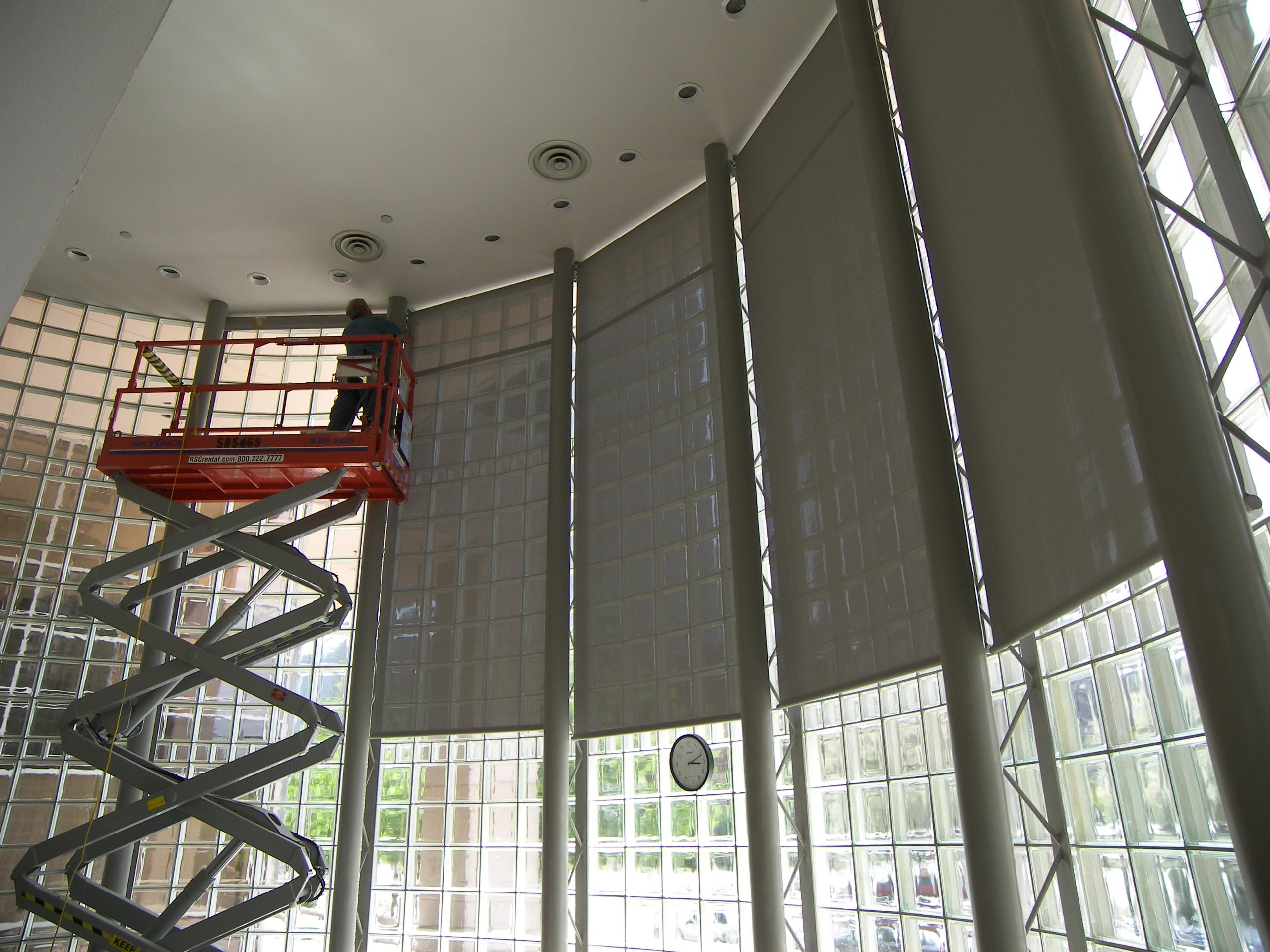 shades carousel fabric in designer window solar roller treatments blinds douglas ocracoke commercial hunter pegasus