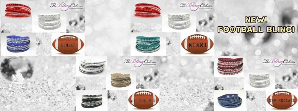 the bling club football bling crystal bracelets