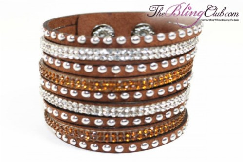theblingclub-com-chocolate-brown-vegan-leather-swarovski-cuff-with-crystals-and-studs