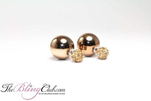 Shamballa Bling Crystal Ball Stud Earrings