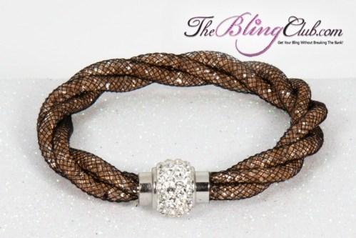the-bling-club-stardust-magnetic-bracelet-black-mesh-bronze-crystals