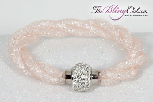 the-bling-club-stardust-magnetic-bracelet-clear-mesh-champagne-swarovski-crystals