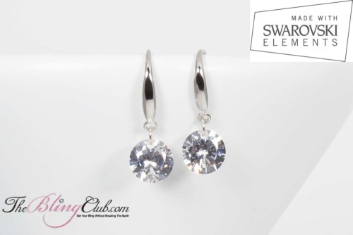 theblingclub.com single drop swarovski naked earrings