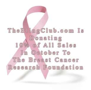 the bling club donating 0% of sales to breast cancer research foundation