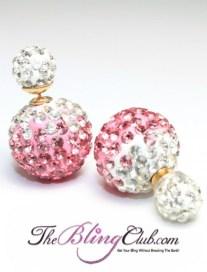 theblingclub.com swarovski pink shamballa crystal post earrings giveaway