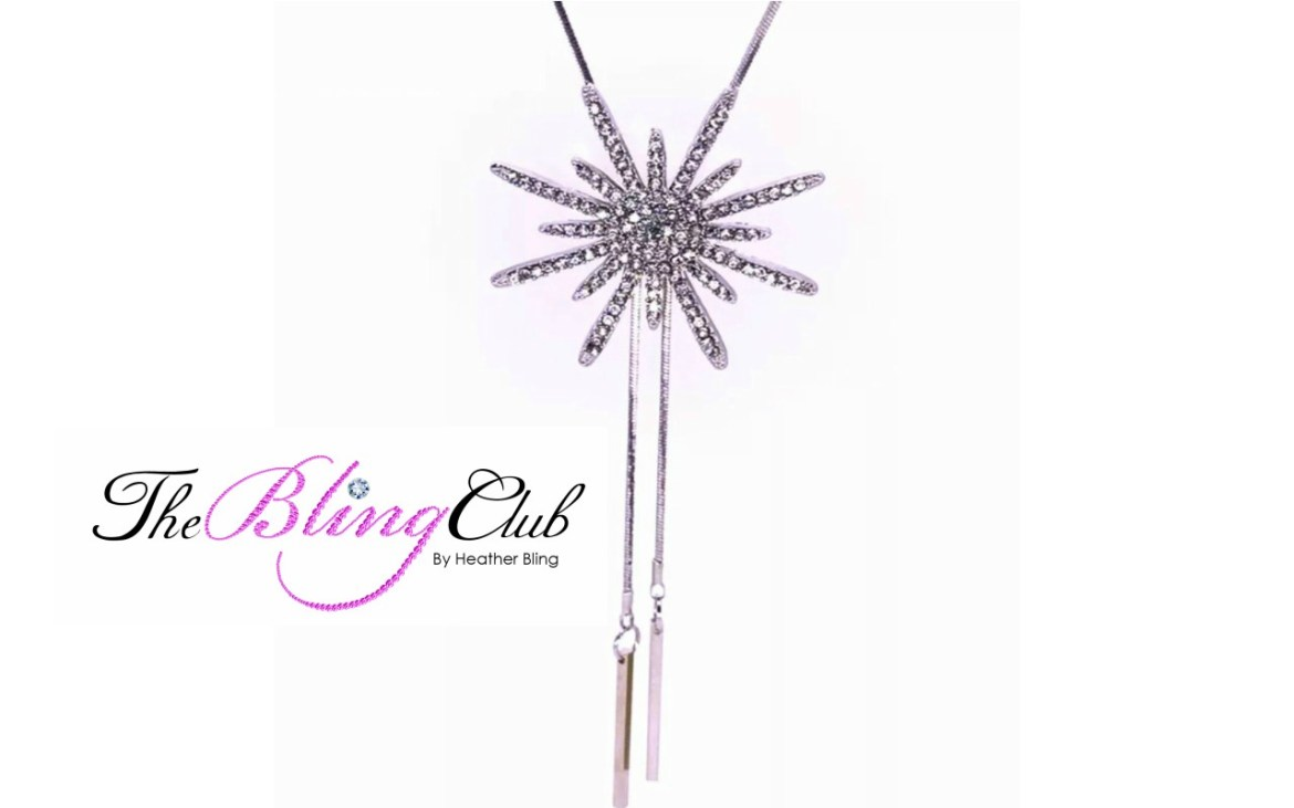 theblingclub.com starburst crystal micro pave pendant necklace