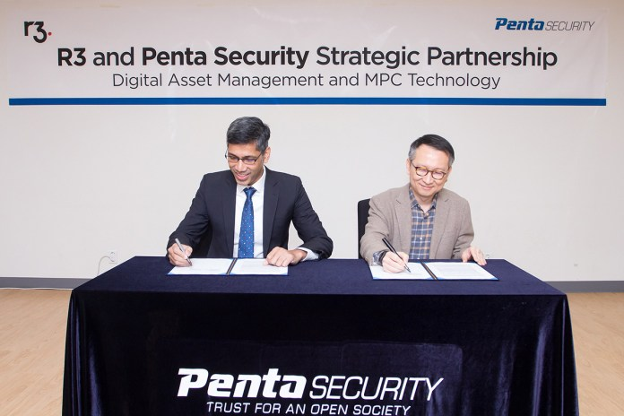 Penta Security and R3 Announce Strategic Partnership for Digital Asset Management and MPC Technology