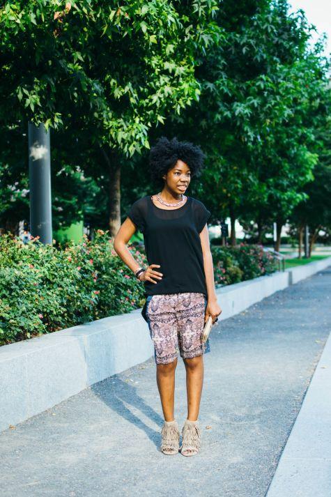 printed shorts, giveaway, NYFW