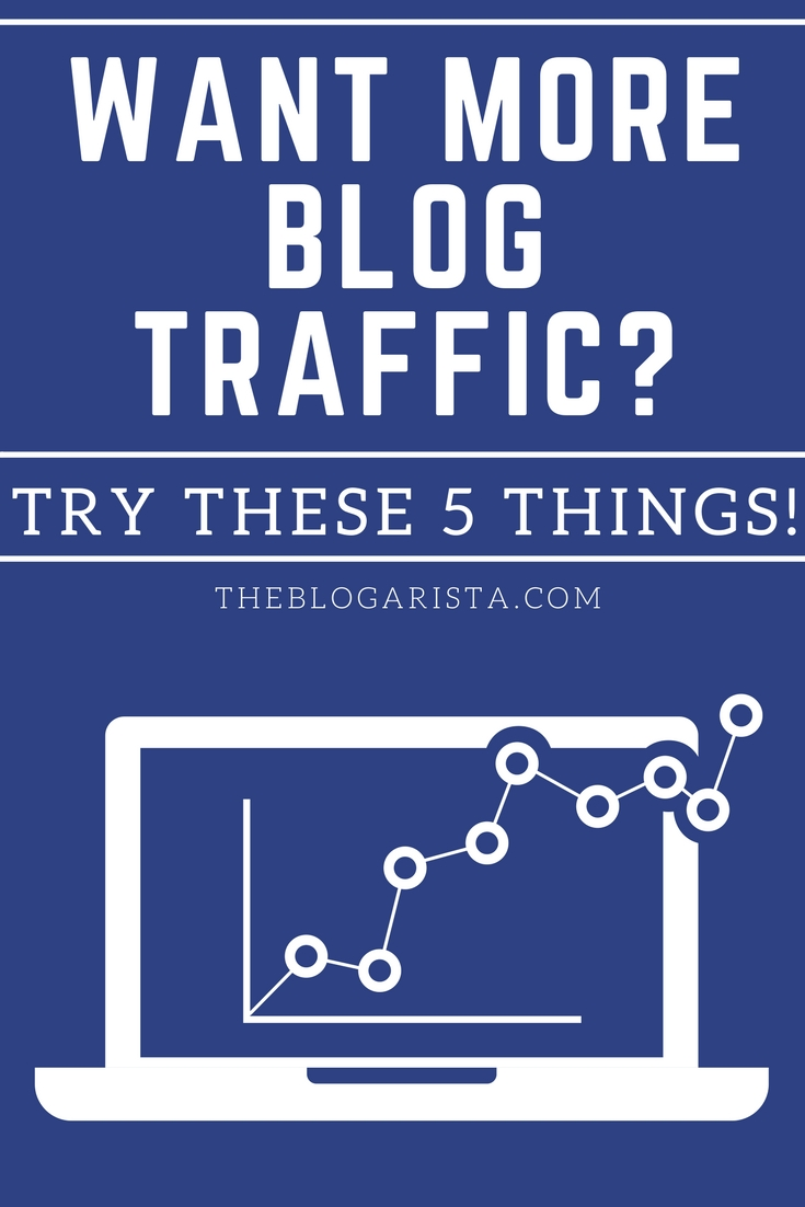 5 things you can do to increase traffic to your blog page. If you're frustrated because no one seems to be visiting your blog, try one of these ideas to generate traffic. They're easy, free, and effective. Blogging Tips | Online Business Tips |