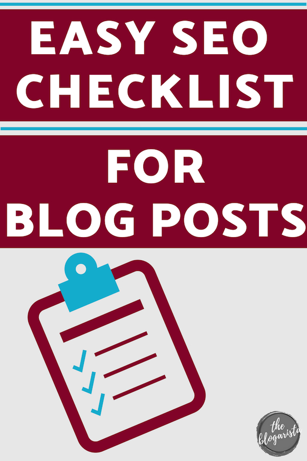 Easy seo checklist for blog posts