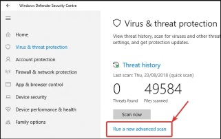 Solution No 8 - Perform a Full Malware Scan