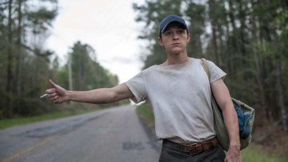 Spider-Man hitchhiking