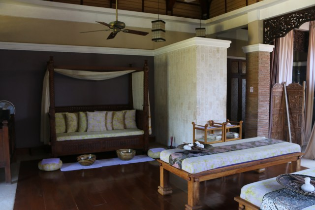 inside the Thai villa at Tirta Spa Boracay
