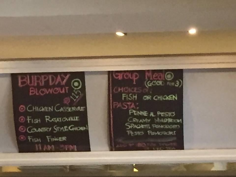 promos at Burp Restaurant