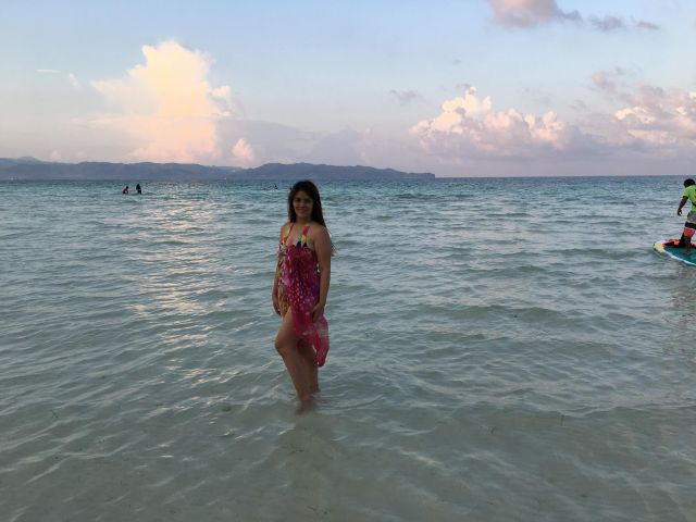 beach pose at Boracay