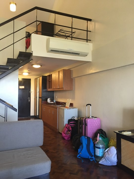 our luggages inside our loft room at Alta Vista de Boracay during our Boracay 2019 vacation
