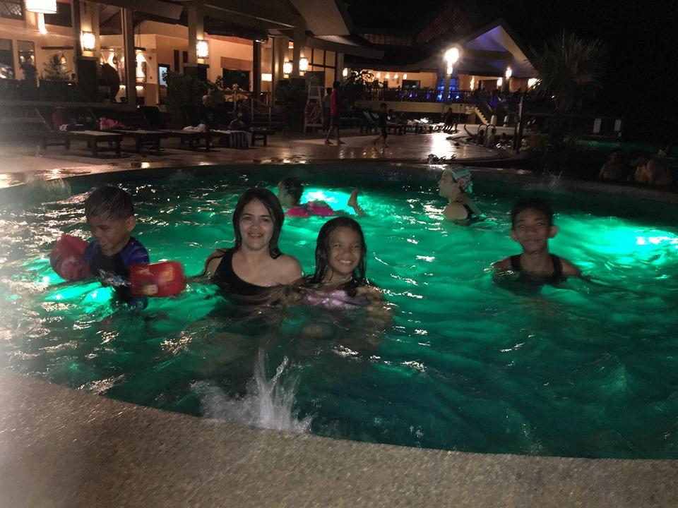 night swimming at Alta Vista de Boracay during our Boracay 2019 vacation