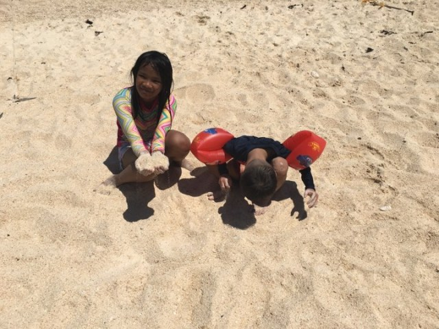 sand at puka Beach in our Boracay 2019 vacation