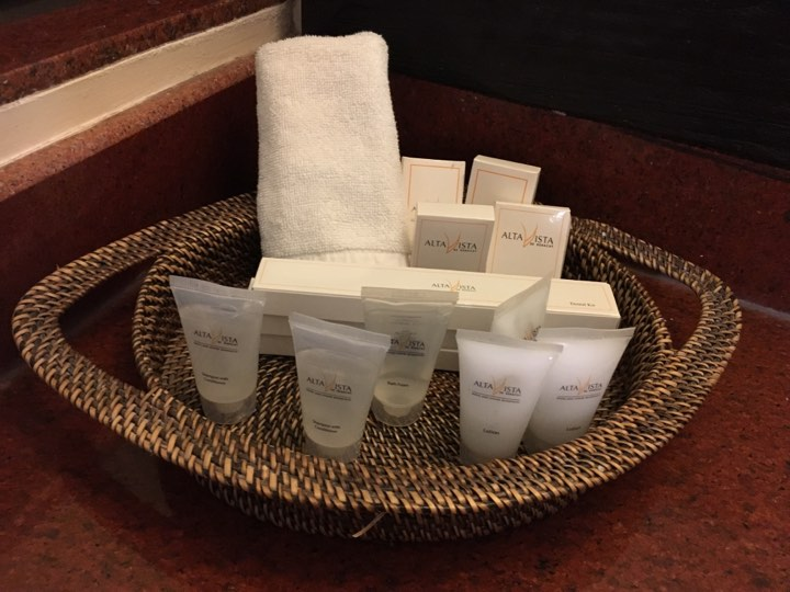 toiletries at Alta Vista de Boracay