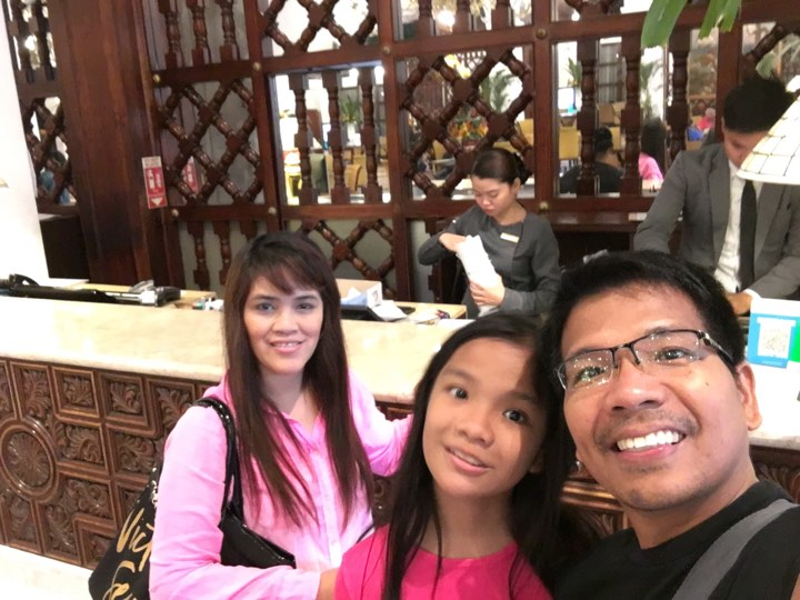 check out at the Manila Hotel