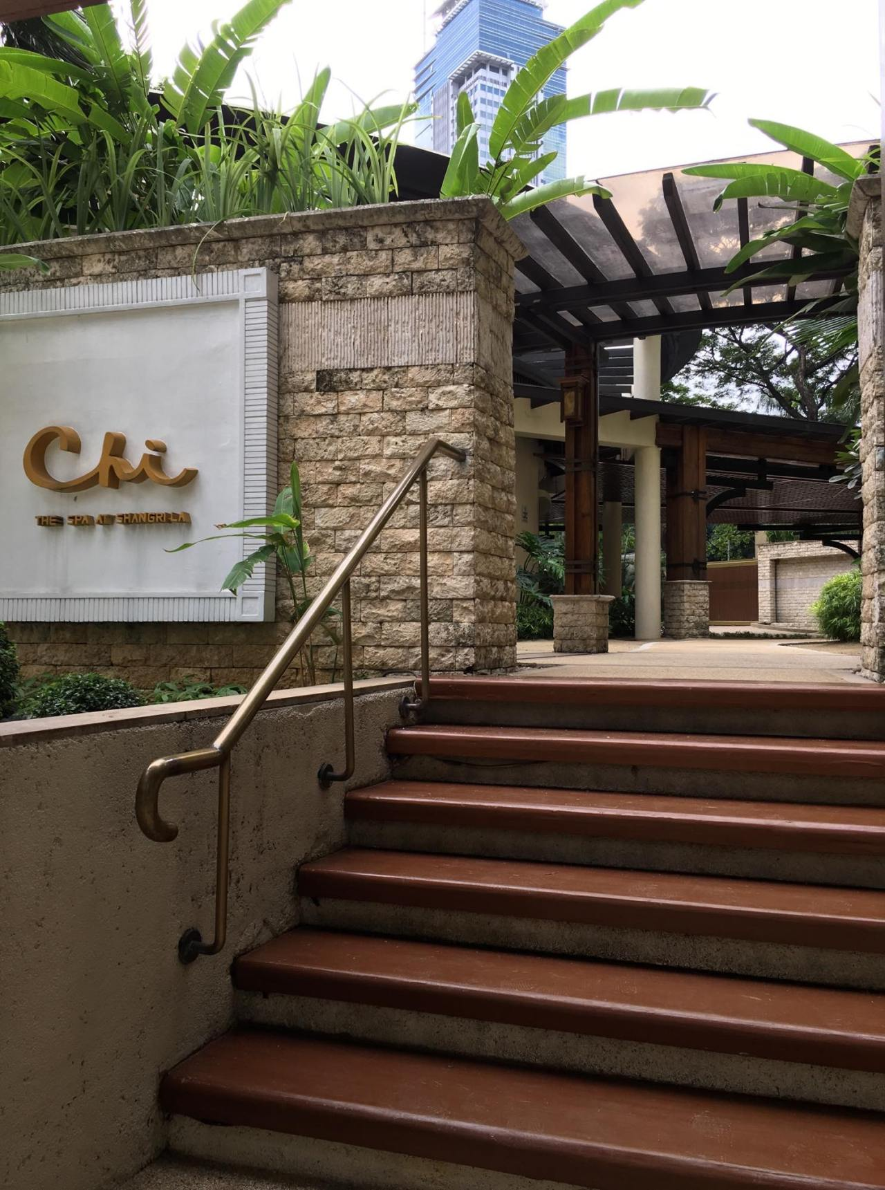 Chi, the Spa, where I had a massage during our celebration at Edsa Shangri-la