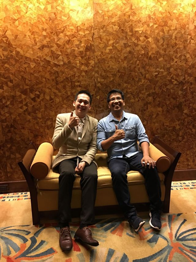 My Hubby with Eddie after the tour at the EDSA Suite
