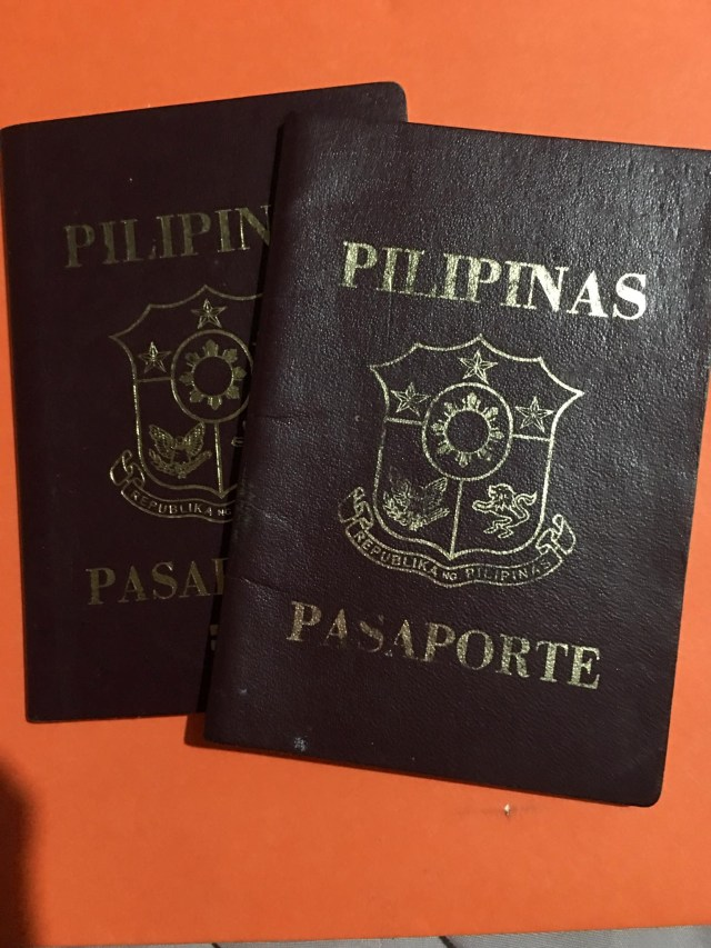 preparing our old passports for our Philippine Passport application (renewal)