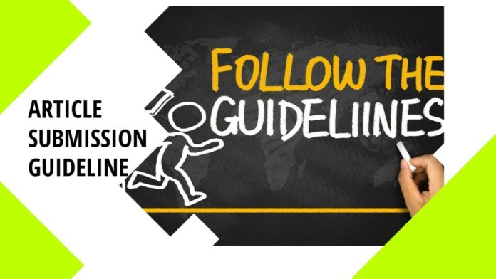 article submission sites guideline