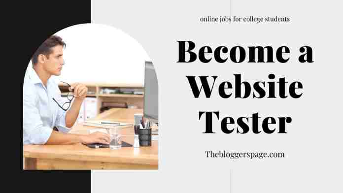 become a website tester online part time jobs for college students