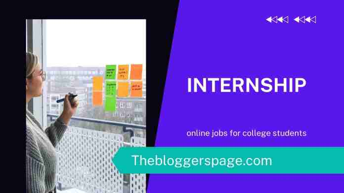 internship online jobs without investment