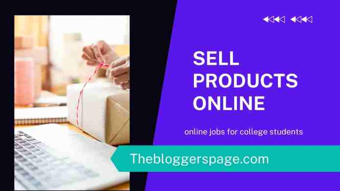 sell product online online jobs without investment