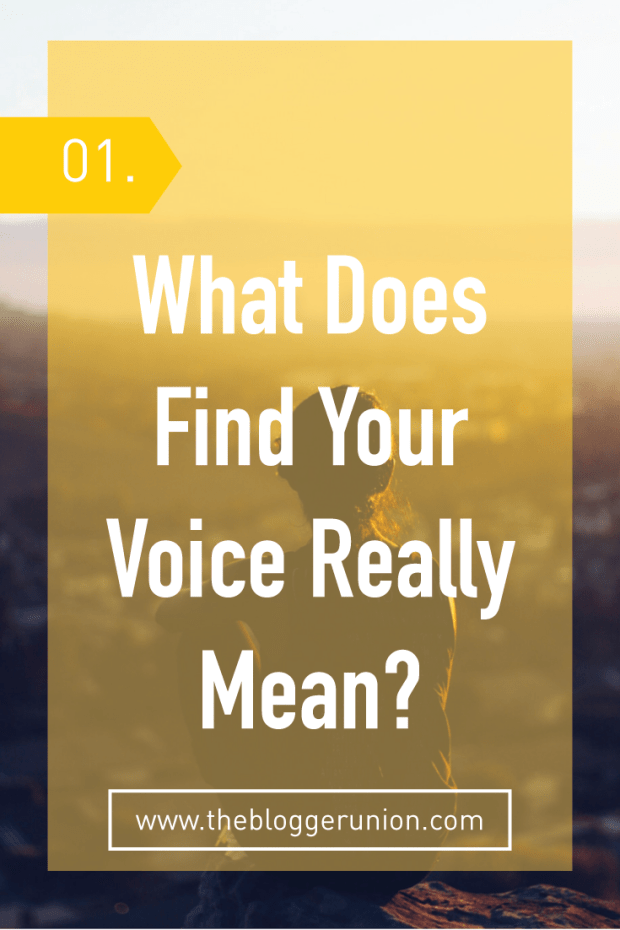 What Does Find Your Voice Really Mean