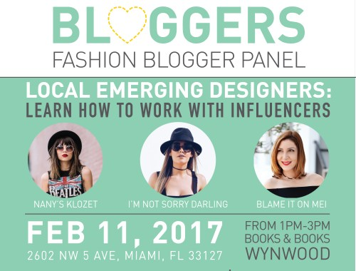 Fashion Blogger Panel for Local Emerging Designers Miami