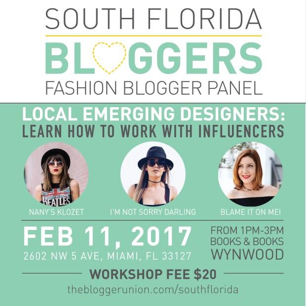 Fashion Blogger Panel for Local Emerging Designers Miami