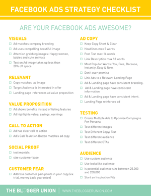Facebook Ads Strategy Checklist