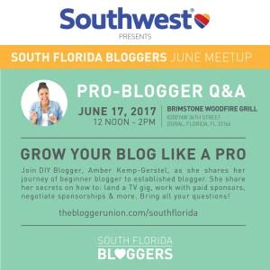 South Florida Bloggers June Meetup