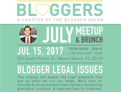 July Miami Bloggers Meetup and Brunch