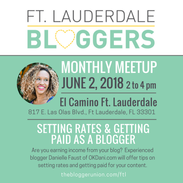 Bloggers Meetup on Setting Rates and Blog Income- June 2018
