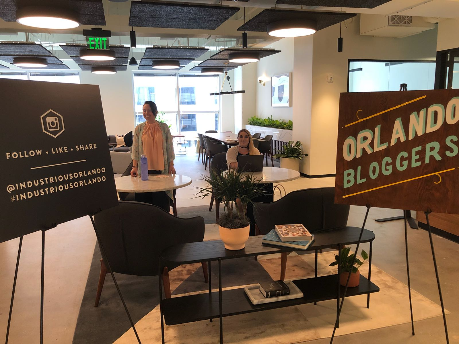 Orlando Bloggers June 2018 Meetup Sign in at Industrious Orlando