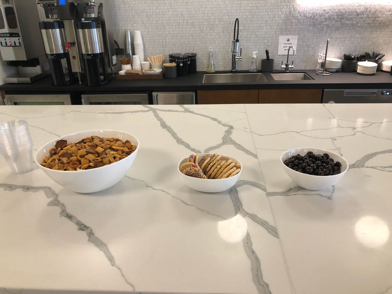 Orlando Bloggers June 2018 Meetup snacks from Industrious Orlando
