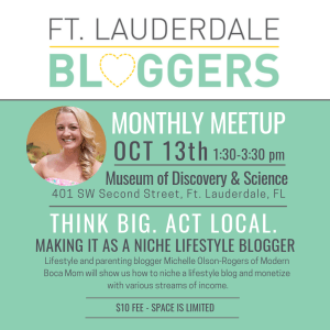 Ft Lauderdale Bloggers Oct Meetup