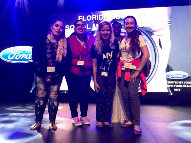 Orlando Bloggers Chapter Officers with Bess Auer