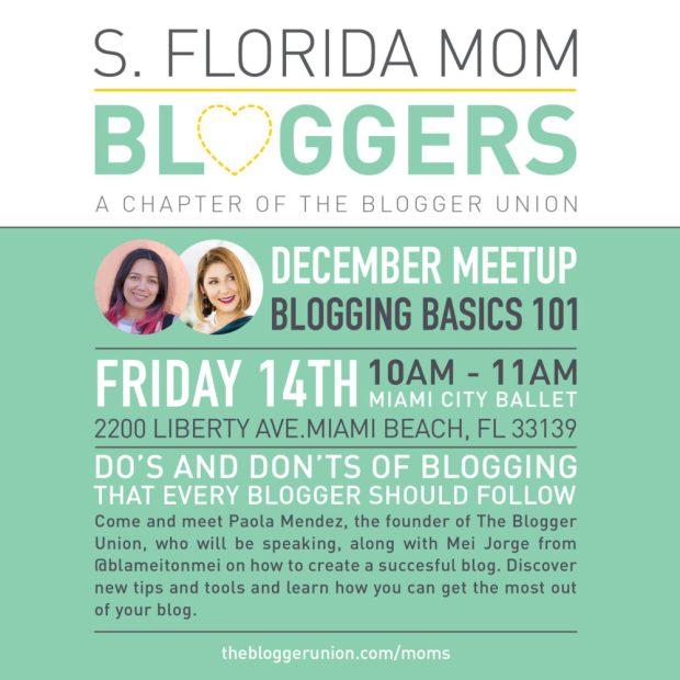 South Florida Mom Bloggers December Meetup: Blogging 101