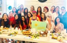 Group Photo of South Florida Mom Bloggers Meetup at Nanndi - June 2019