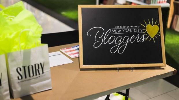 New York City Bloggers - Registration Table
