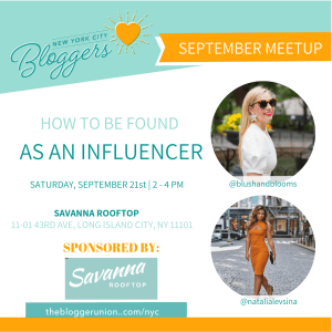 September NYC Blogger Meetup Flyer
