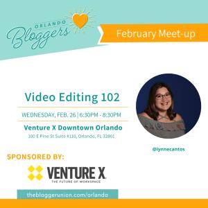 Orlando Bloggers February Meetup Flyer