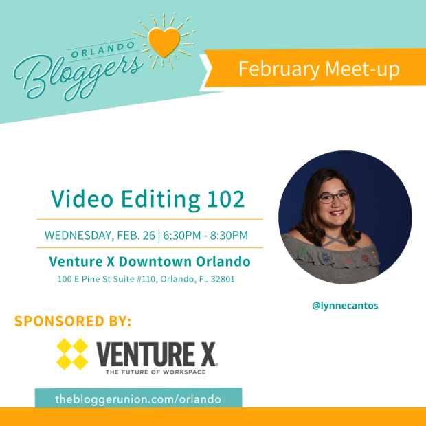 Orlando Bloggers February Meetup Flyer